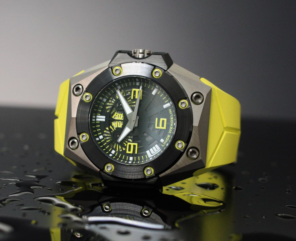 Linde Werdelin Oktopus II Titanium Yellow Limited Edition Dive Watch