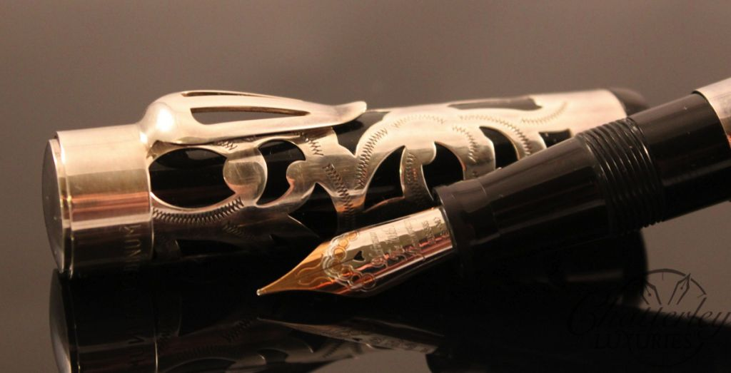PLATINUM 70th Anniversary Sterling Silver Overlay Fountain Pen (2)