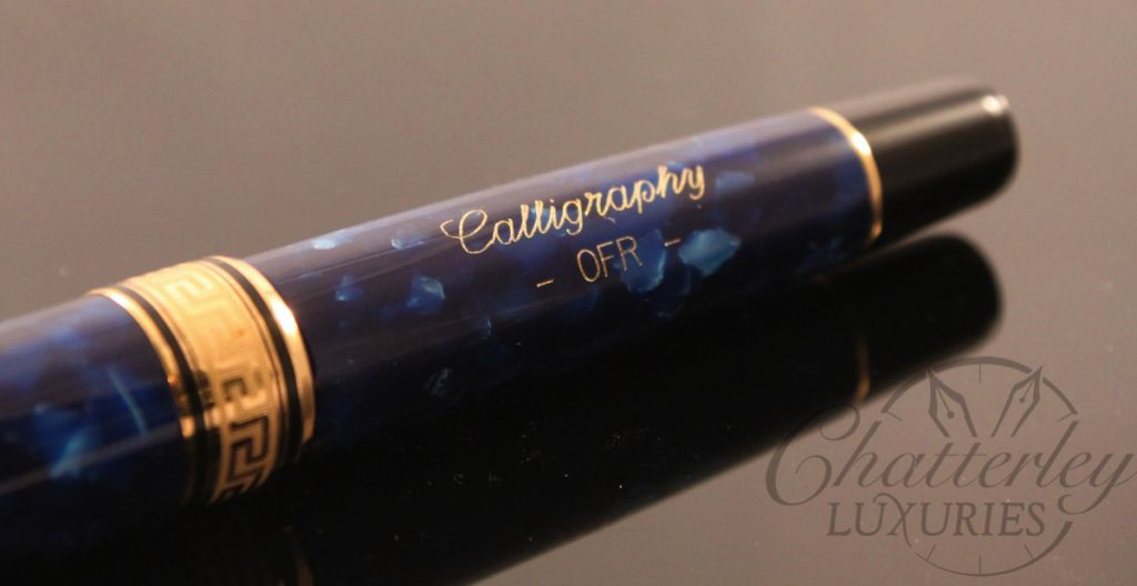Aurora Optima Blue With Gold Auroloide Piston Filled