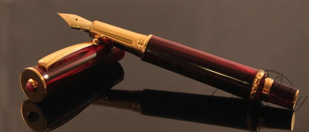 Delta Papillon Ruby Red Celebration Fountain Pen