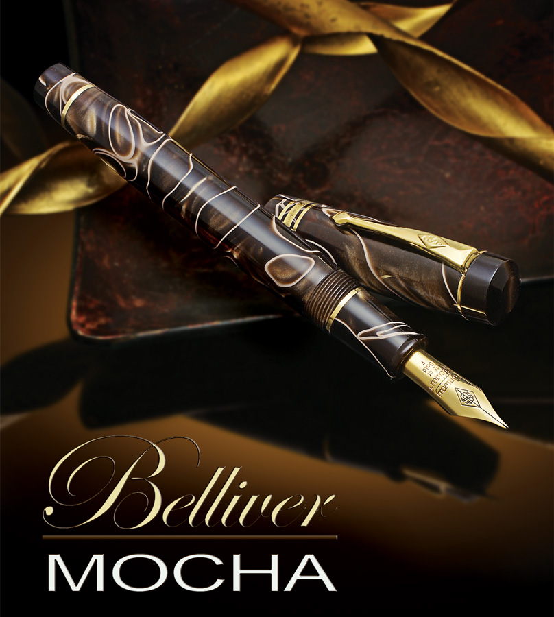 Conway Stewart belliver mocha fountain pen