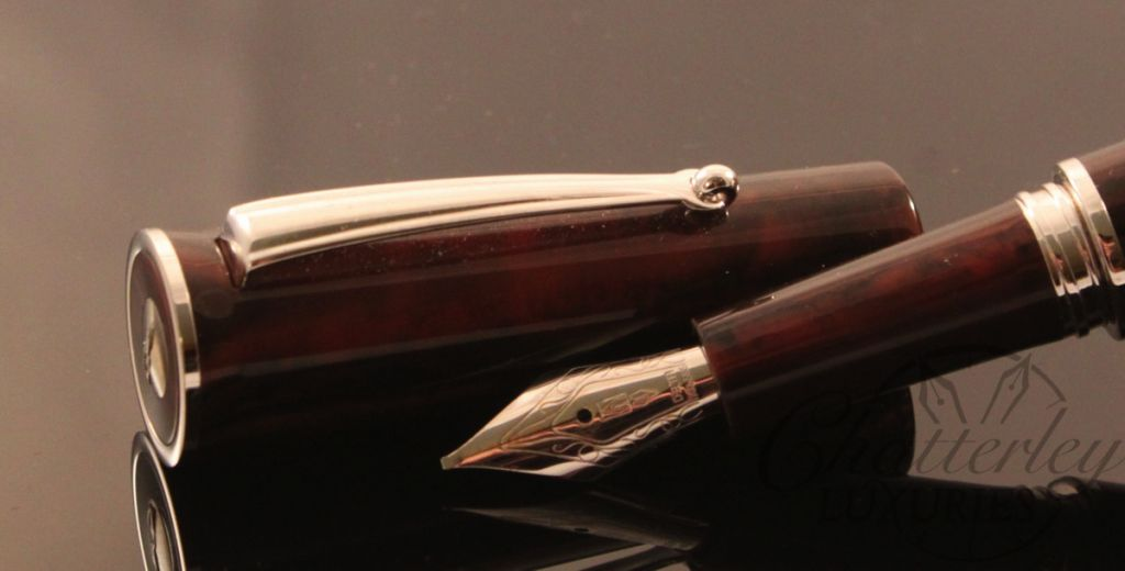 Delta Papillon Red Resin Fountain Pen (2)