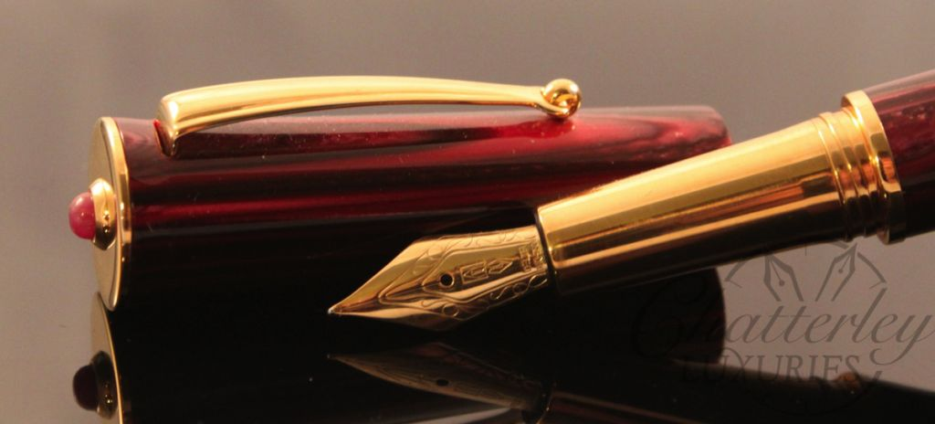 Delta Papillon Ruby Red Celebration Fountain Pen (1)