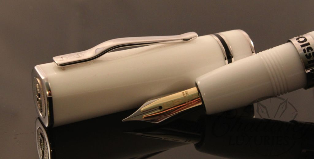Delta Fusion One ( 1 ) Fountain Pen in  White with Fusion Nib (1)