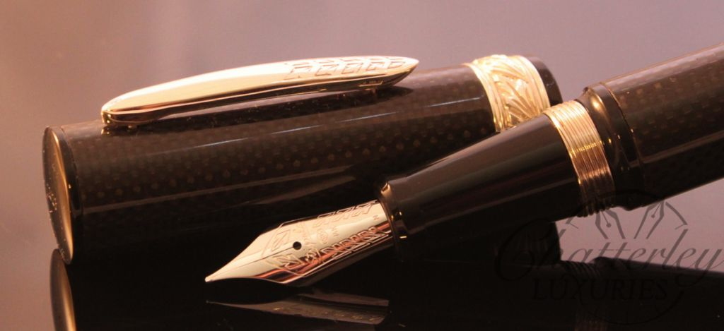 Stipula Carbon Future Polished Shiny Fountain Pen (1)