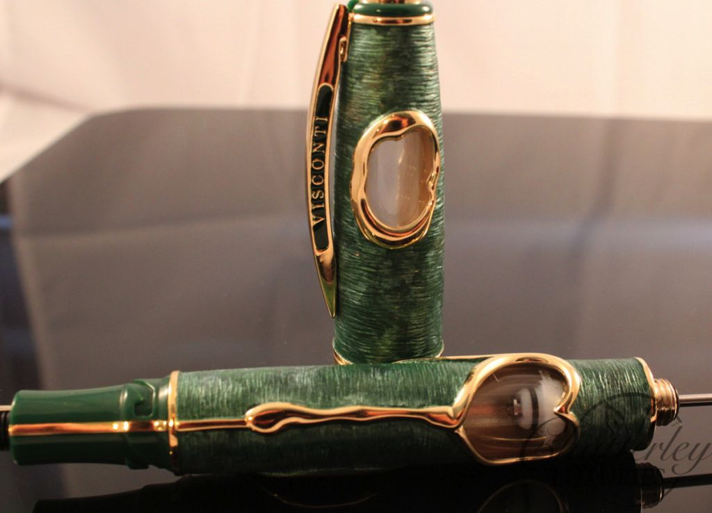 93fb1288b0a Visconti Fountain Pen Salvador Dali Dance of Time Green and Gold ...