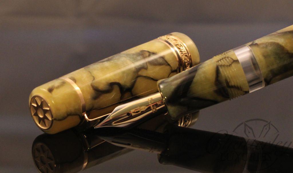 Delta / Chatterley Pens Fusion Limited Edition Marmo Venato Fountain Pen