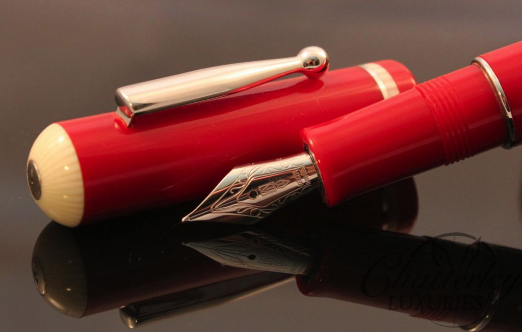 Delta Via Veneto Red with Platinum Fountain Pen