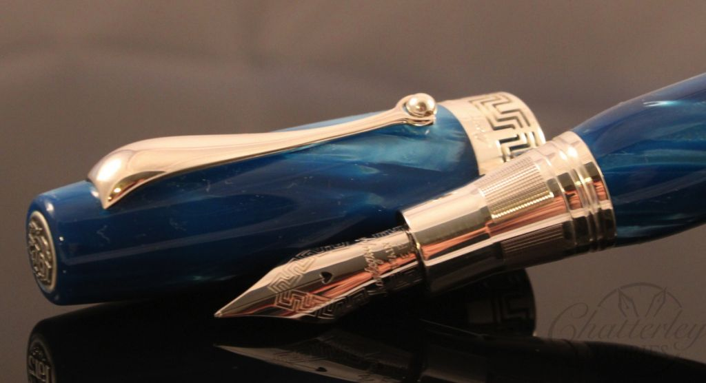 Montegrappa Miya Blue Celluloid Fountain Pen