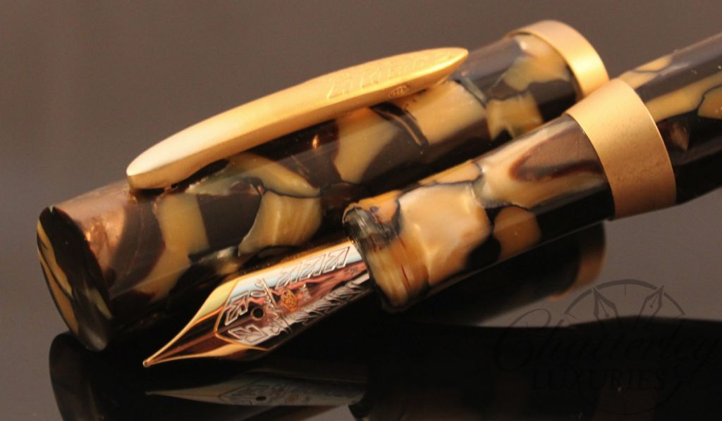 Stipula / Chatterley Pens Etruria Nicciola Hazelnut Limited Edition Fountain Pen