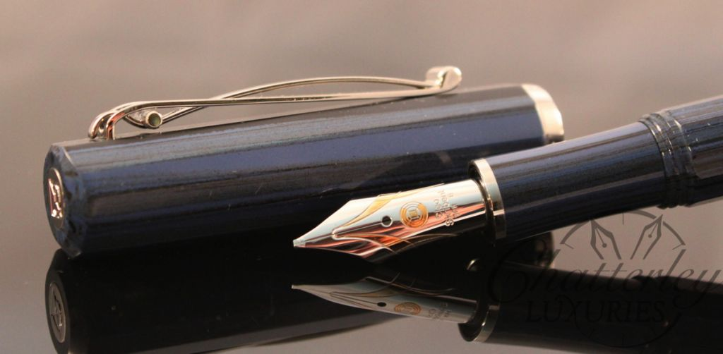 Cleo Fountain Pen Blue-003