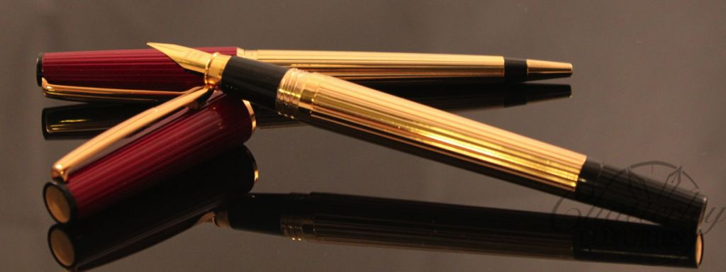 Dantrio Gold Colored Fountain Pen Ballpoint Set