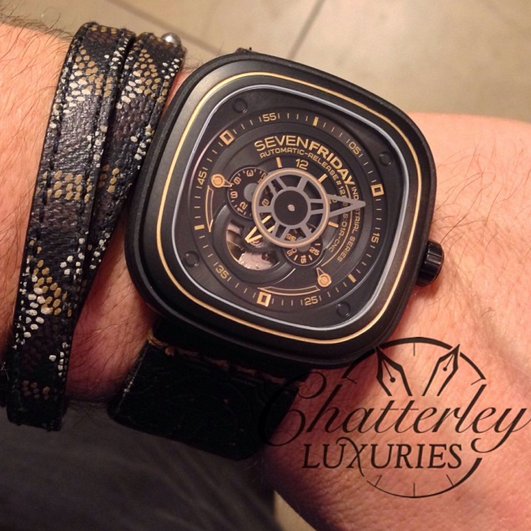 Sevenfriday P2 2 Black And Gold Industrial Revolution
