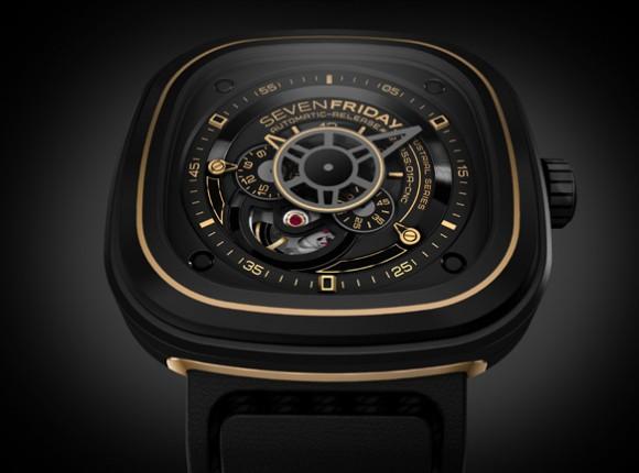 Sevenfriday P2 2 Black And Gold Industrial Revolution