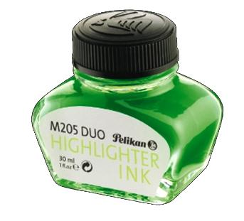 Pelikan ink bottle Green Highlighter INK - Verde fluorescente