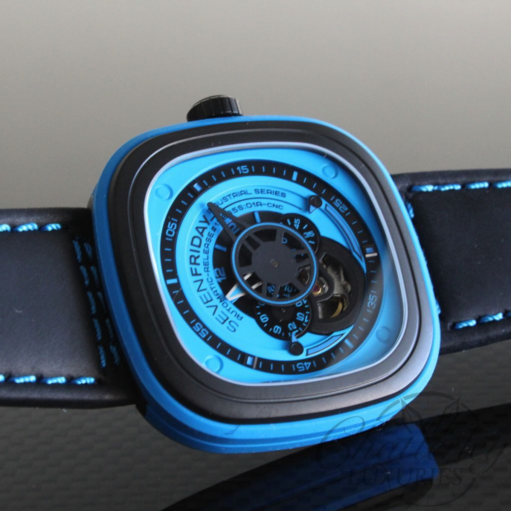Sevenfriday P1 4 Industrial Essence Automatic Blue Watch
