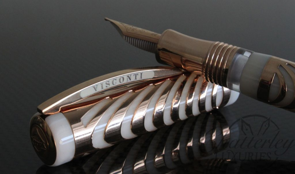 Visconti Rose Gold Ripple LE Fountain Pen