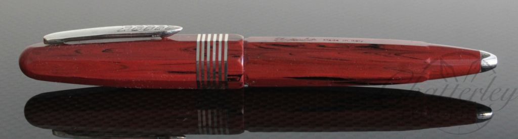 Stipula Ebonite Faceted Etruria Ballpoint Pen