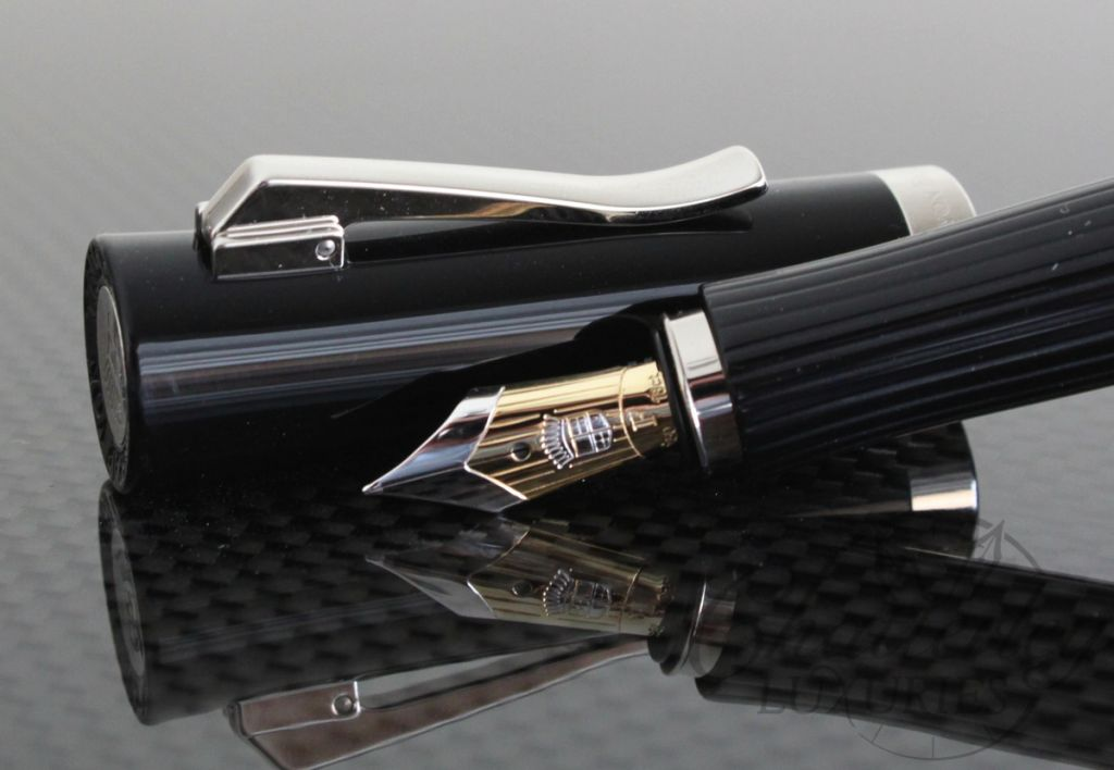 graf von faber castell intuition platino black fluted fountain pen. Black Bedroom Furniture Sets. Home Design Ideas