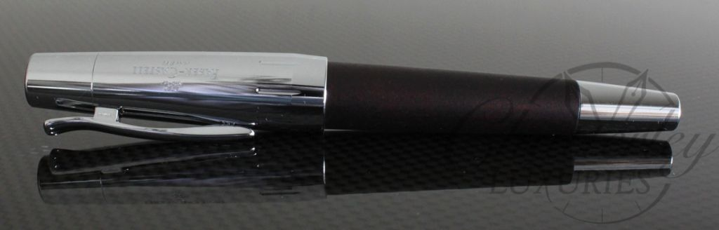 Faber Castell E Motion Dark Brown Wood And Chrome Fountain Pen