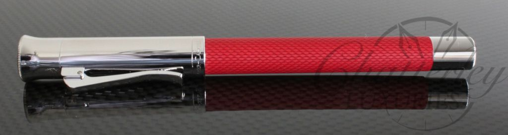 Faber Castell Guilloche Coral Red Fountain Pen