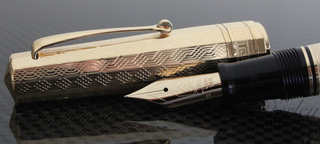 Omas Old Style Paragon Gold Vermeil Guilloche Limited Edition Fountain Pen