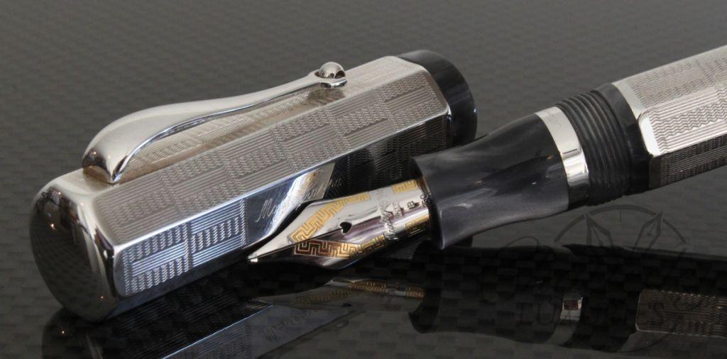Montegrappa Silver Priviledge Deco Fountain Pen