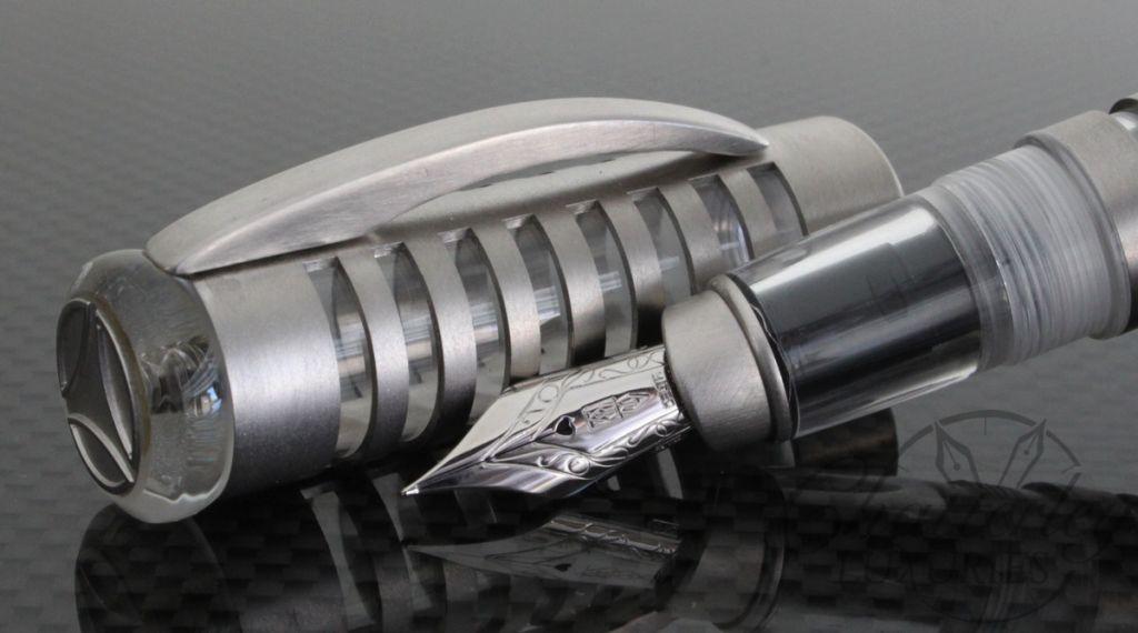 Delta Momo Rhodium Cage Skeleton Fountain Pen7
