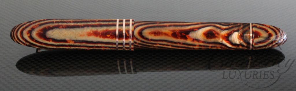 Omas Brown Arco Celluloid 360 Fountain Pen Rose Gold Trim