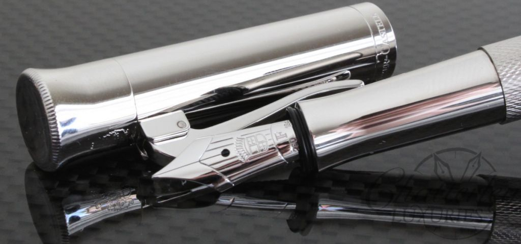 Faber Castell Guilloche Rhodium Fountain Pen2
