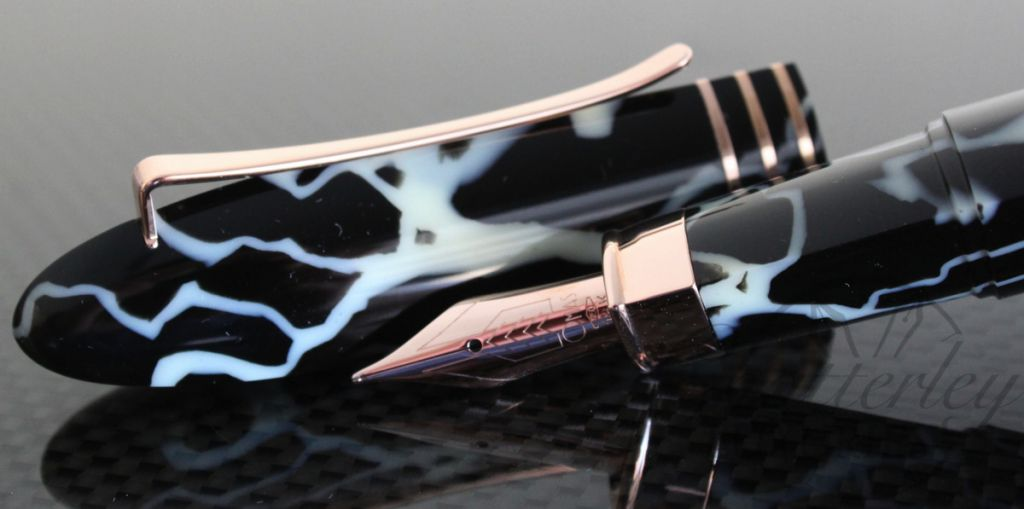 Omas 360 Wild Celluloid Rose Gold Fountain Pen