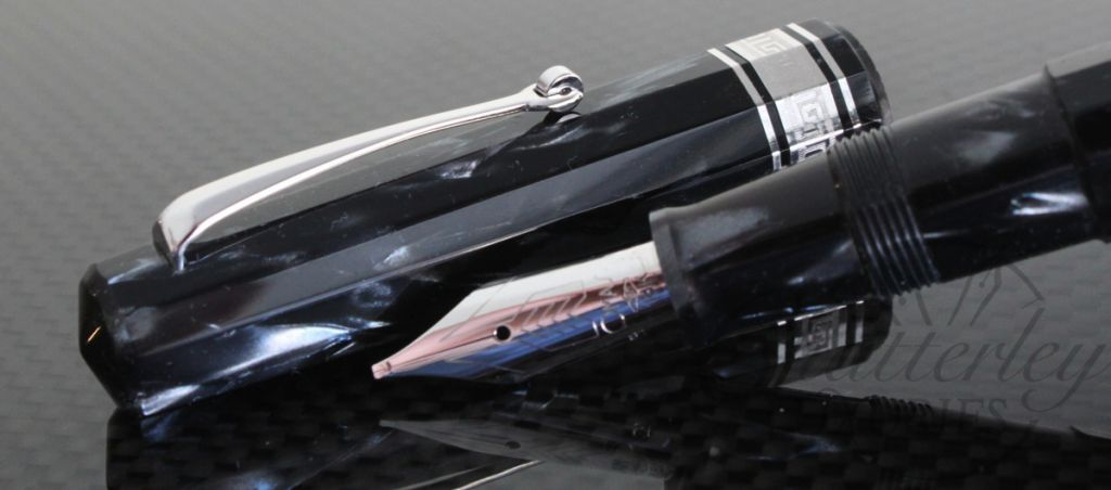 Omas Paragon Gray Striated Celluloid Limited Edition Fountain Pen