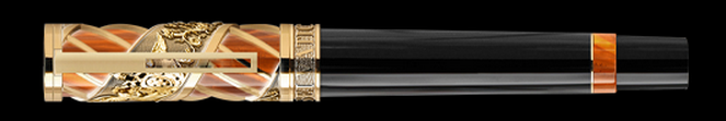 Delta Vatican Vermeil Trim Piston Filled Fountain Pen