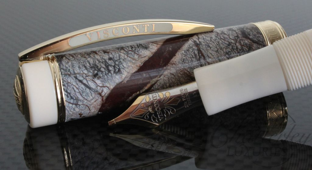 Visconti Limited Edition Marble Forest Brown Fountain Pen/Rollerball Convertible
