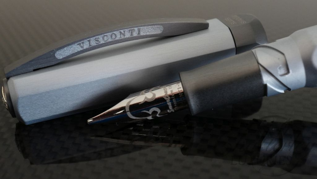 Visconti Opera Metal Aluminum Silver Shadow Fountain Pen