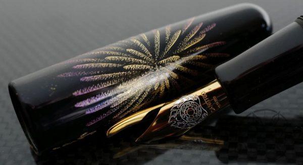 Danitrio Chinkin Firecracker Fountain Pen on Takumi with Gold Clip