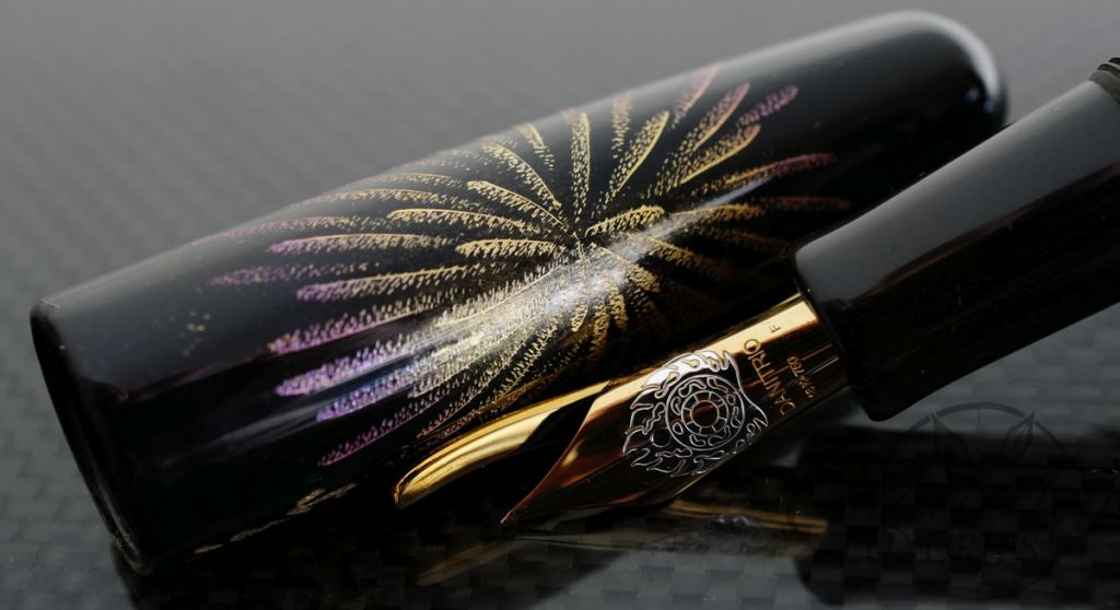 Danitrio Chinkin Firecracker Fountain Pen on Takumi with Gold Clip
