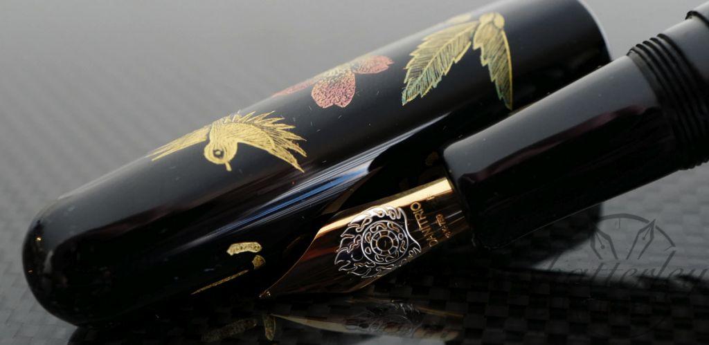 Danitrio Chinkin Yamano Tori Fountain Pen on Takumi with Silver Clip
