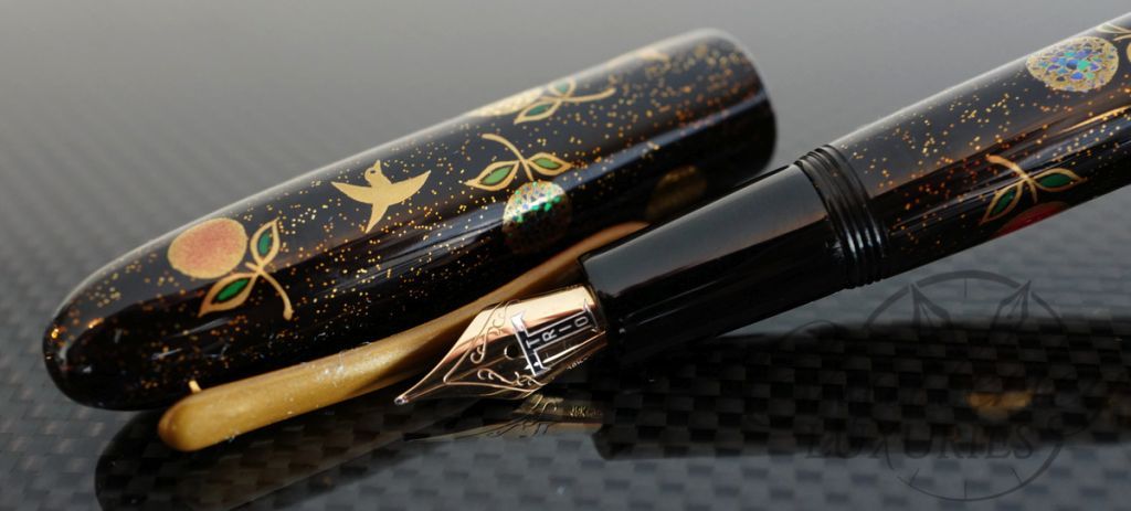 Danitrio Kacho with gold on Hanryo Fountain Pen