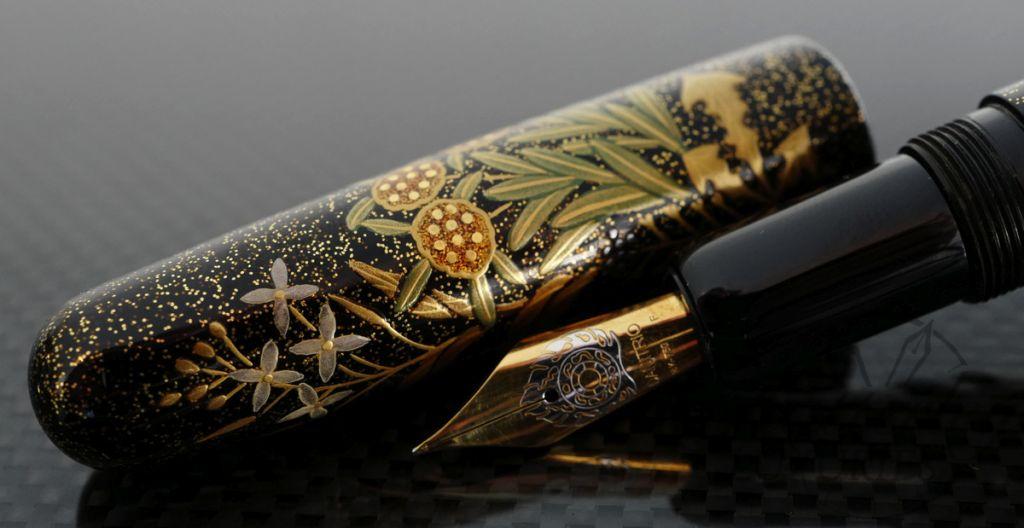 Danitrio Maki-e Spring Flowers Fountain Pen on Takumi with Gold Clip