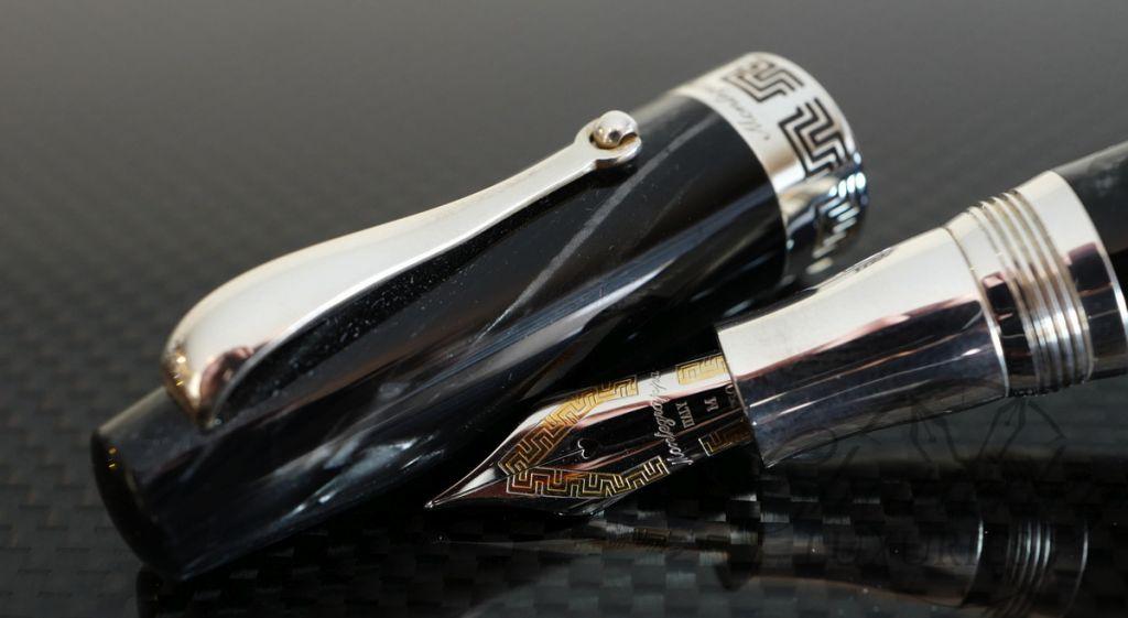 Montegrappa Historia Limited Edition Fountain Pen in Grey Striated Celluloid