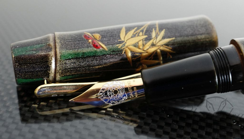 Danitrio Grey Bamboo with Maki-e Fountain Pen