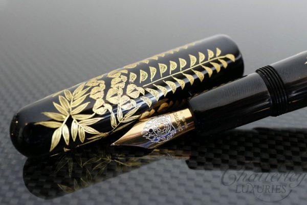 Danitrio Chinkin Vines Fountain Pen on Densho with Gold Clip