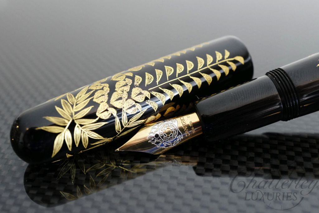 Danitrio Chinkin Vines Fountain Pen on Densho with Gold Clip