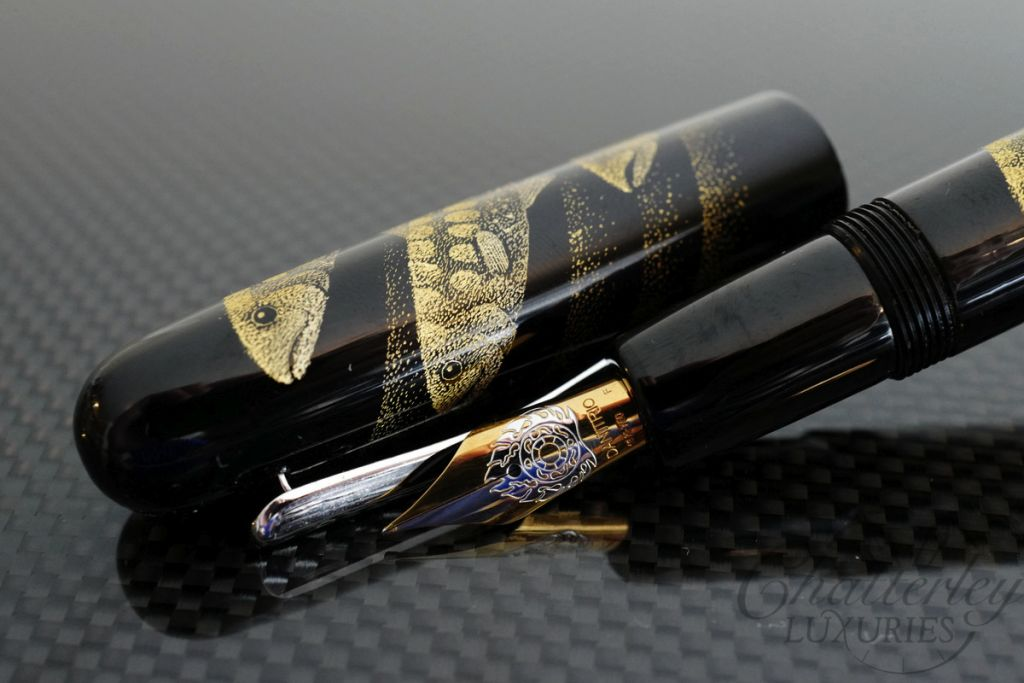 Danitrio Chinkin Seiryu (Clear Stream) Fountain Pen on Densho with Clip
