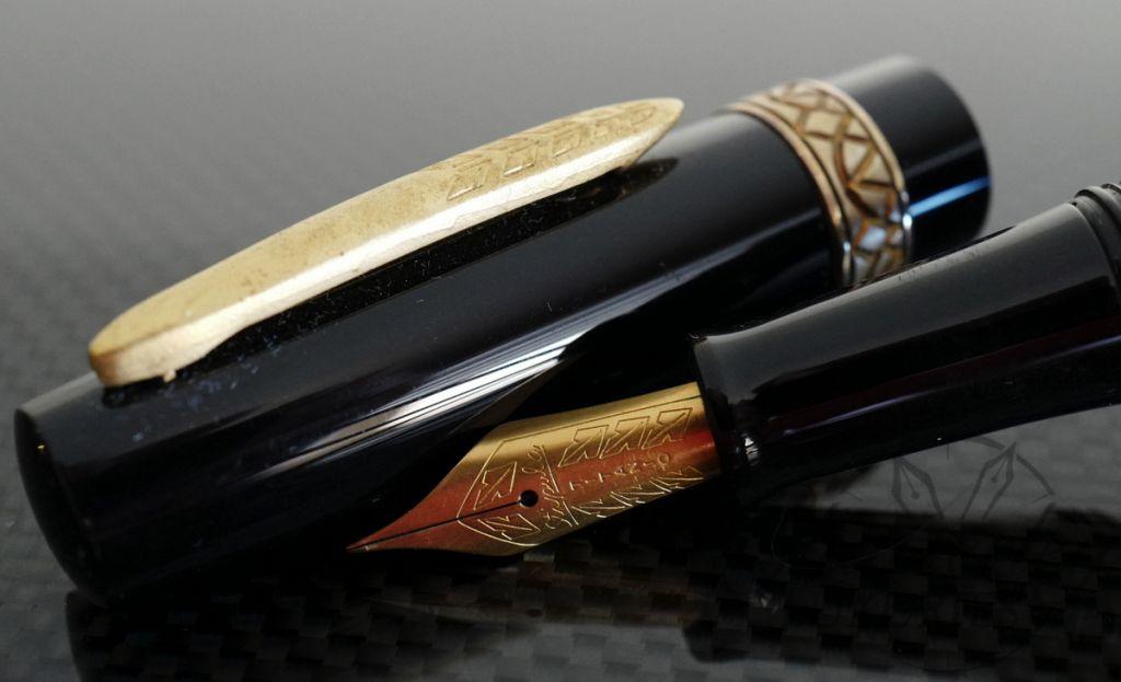 Stipula Black Etruria Flat Top Prototype Fountain Pen