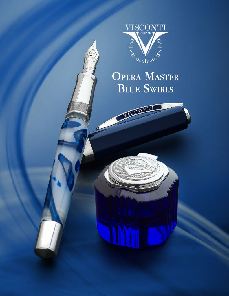 Visconti Opera Master Blue Swirls Limited Edition Fountain