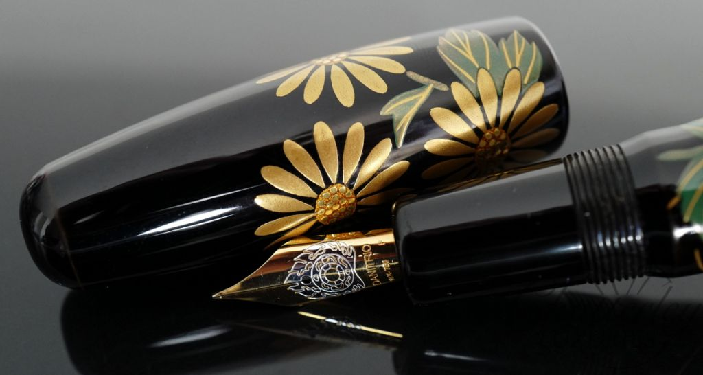 Danitrio Urushi Maki-e Gosei Five Flowers on Takumi Fountain Pen
