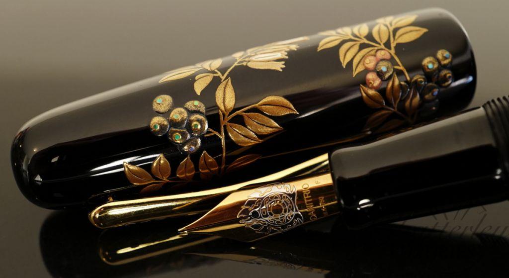 Danitrio Takumi Blueberry Maki-e Fountain Pen