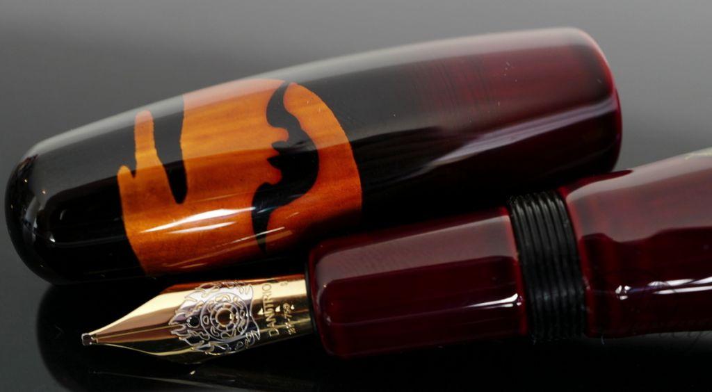 Danitrio Komori Bats Fountain Pen on Hyotan